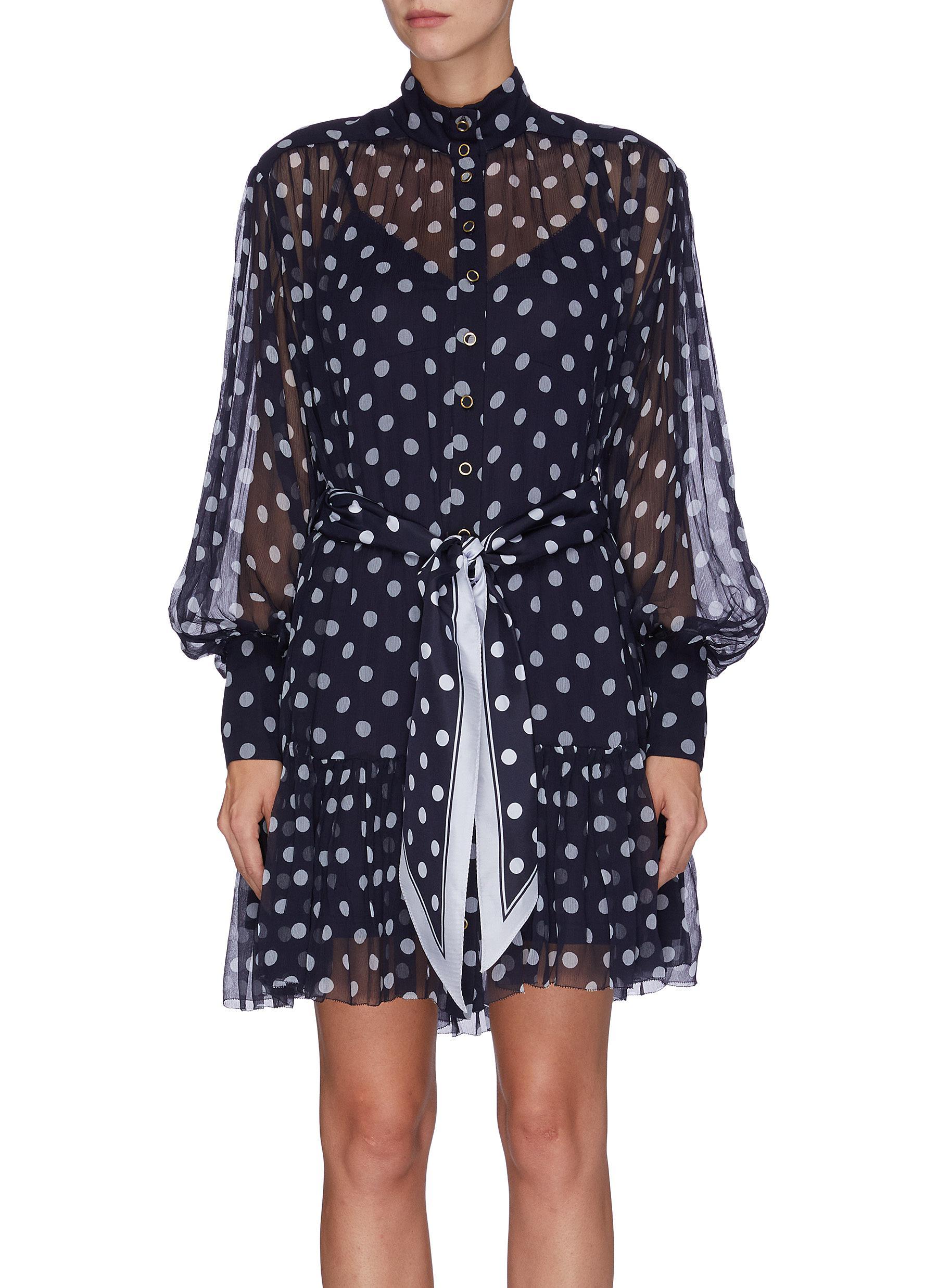 Sabotage polka dot print mini dress by Zimmermann