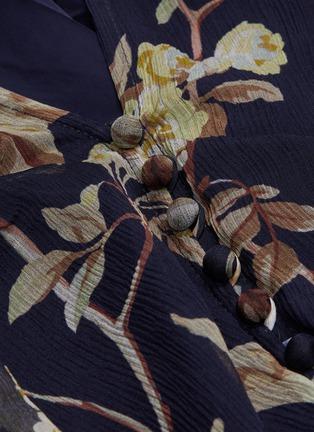 - ZIMMERMANN - 'Sabotage' belted floral print ruffled playsuit