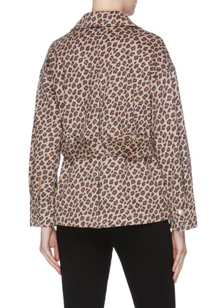 Back View - Click To Enlarge - HELEN LEE - Leopard print Worker jacket