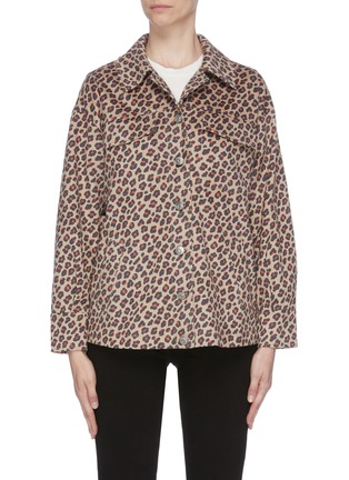 Main View - Click To Enlarge - HELEN LEE - Leopard print Worker jacket