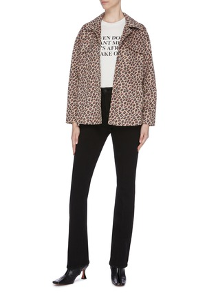 Figure View - Click To Enlarge - HELEN LEE - Leopard print Worker jacket