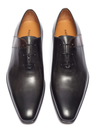 Detail View - Click To Enlarge - MAGNANNI - Stitched leather Oxfords
