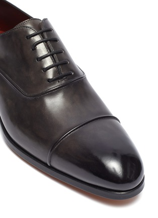 Detail View - Click To Enlarge - MAGNANNI - Panelled leather Oxfords