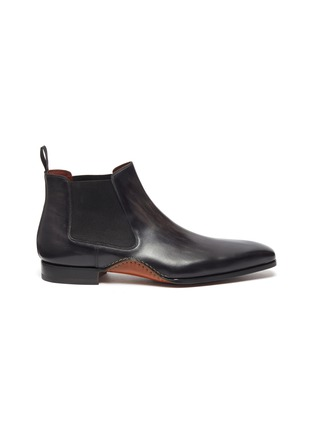 Main View - Click To Enlarge - MAGNANNI - Stitched leather Chelsea boots