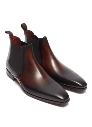 Detail View - Click To Enlarge - MAGNANNI - Stitched leather Chelsea boots