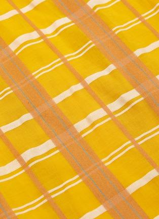 - STAUD - 'Mika' check plaid sash tie waist sleeveless jumpsuit
