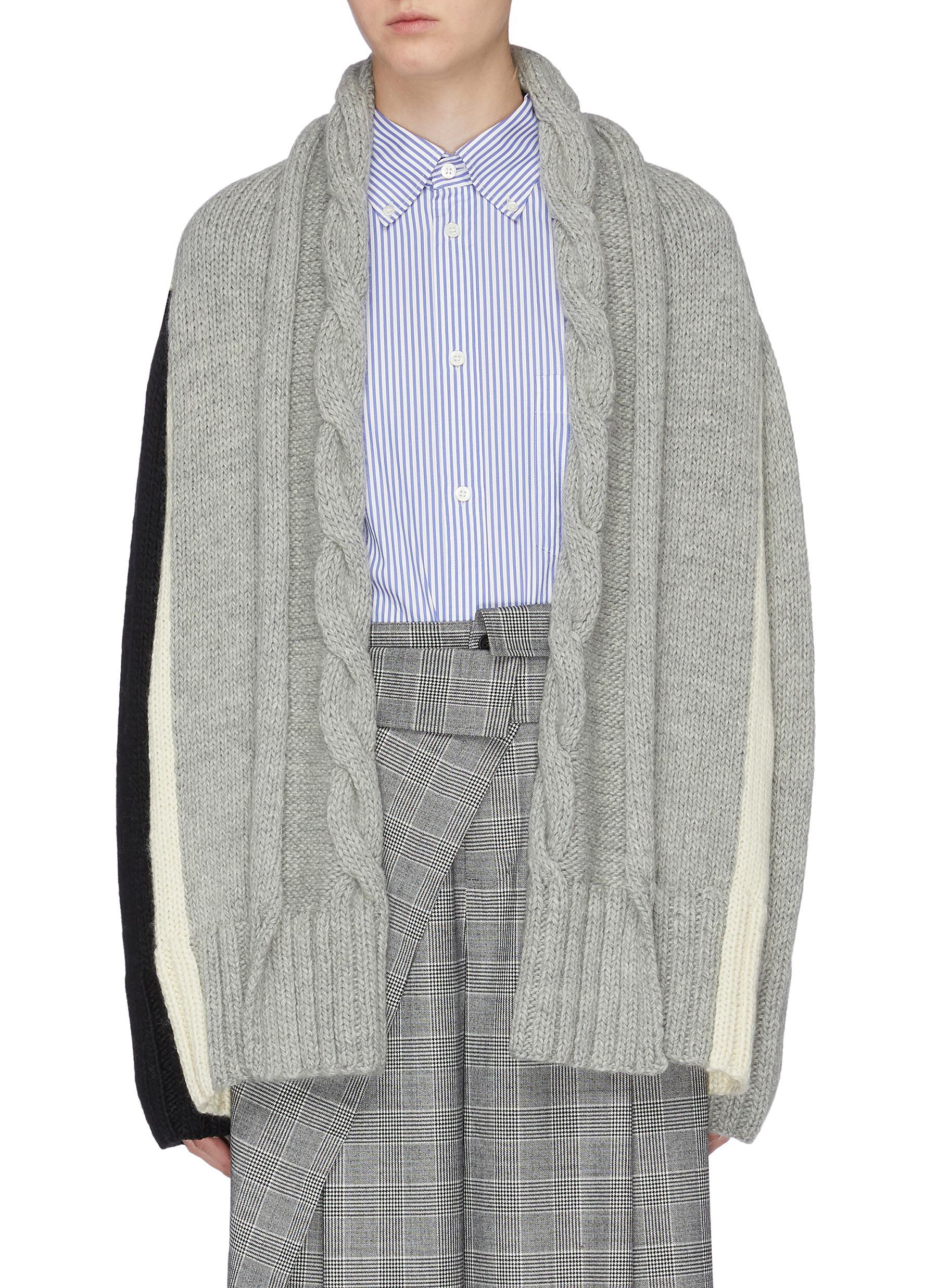 Colourblock shawl collar cardigan by The Keiji