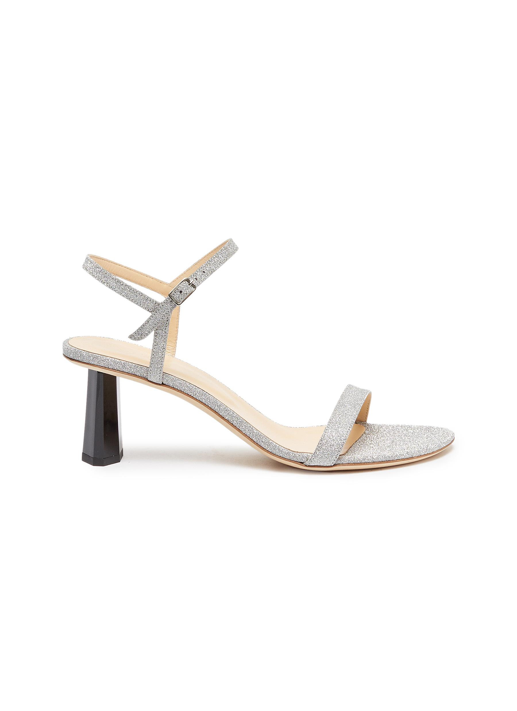 Magnolia ankle strap glitter sandals by By Far