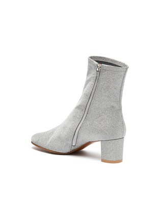 - BY FAR - 'Sofia' glitter leather ankle boots