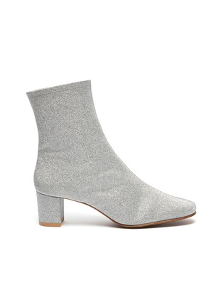 Main View - Click To Enlarge - BY FAR - 'Sofia' glitter leather ankle boots
