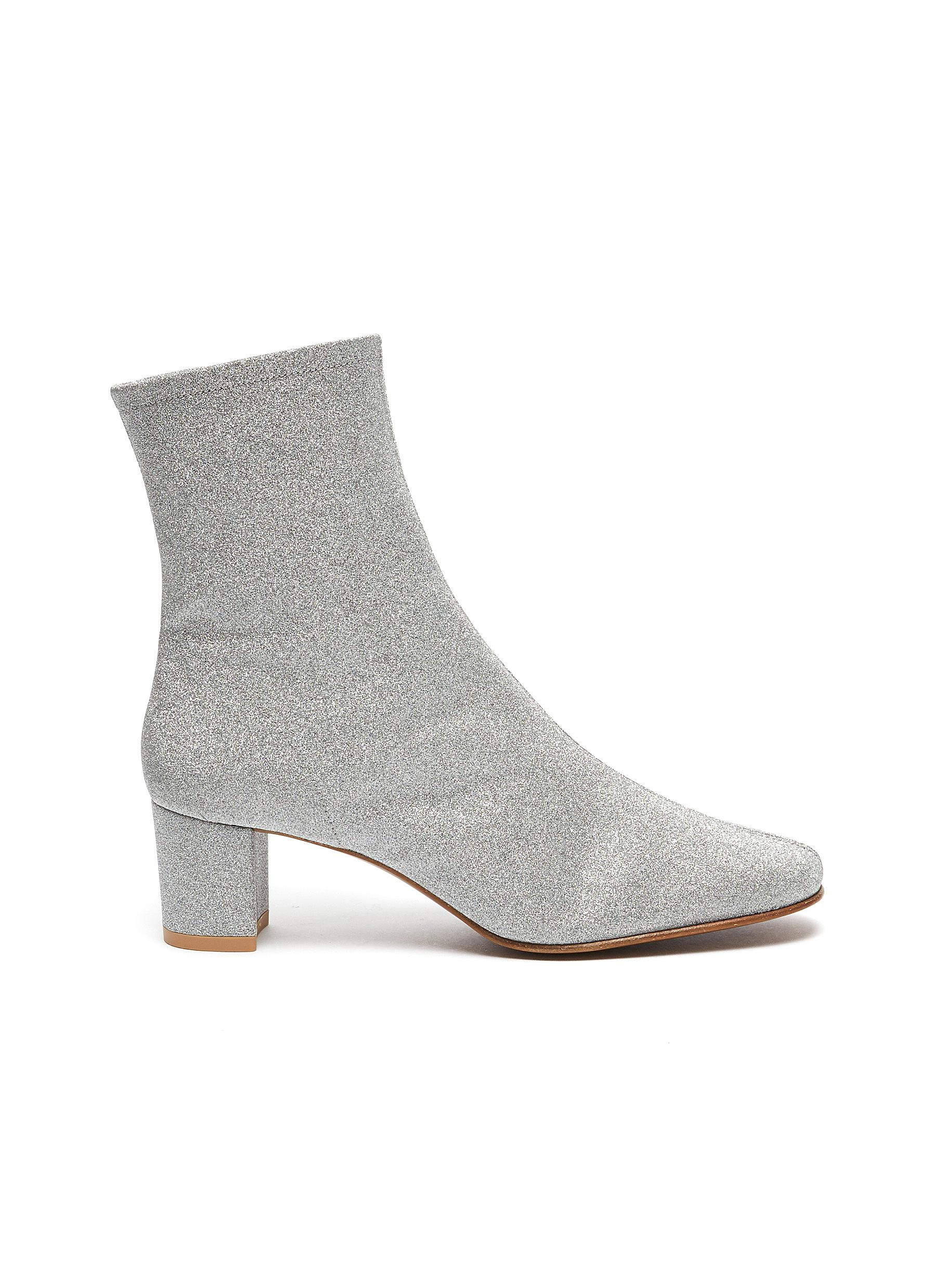 Sofia glitter leather ankle boots by By Far