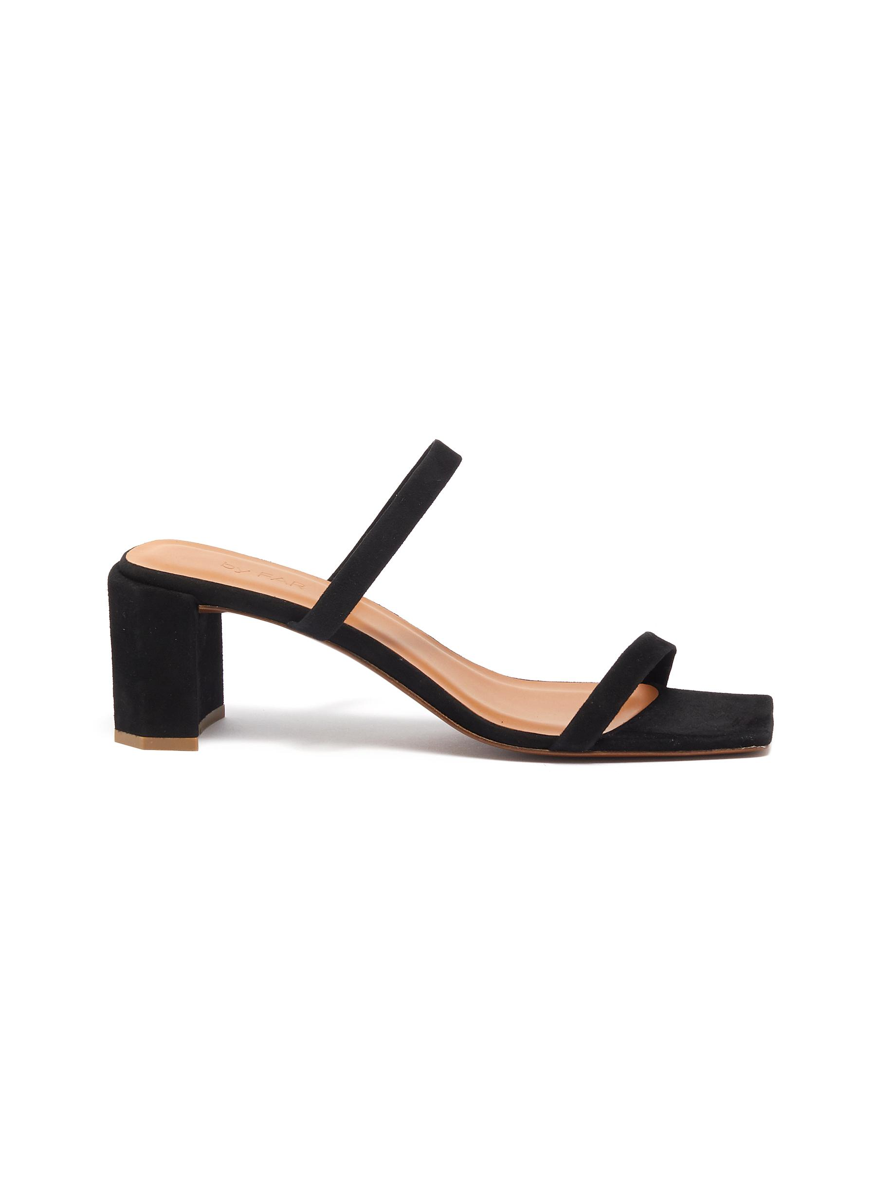 By Far Mid Heels Tanya suede sandals