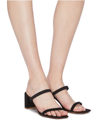Figure View - Click To Enlarge - BY FAR - 'Tanya' suede sandals