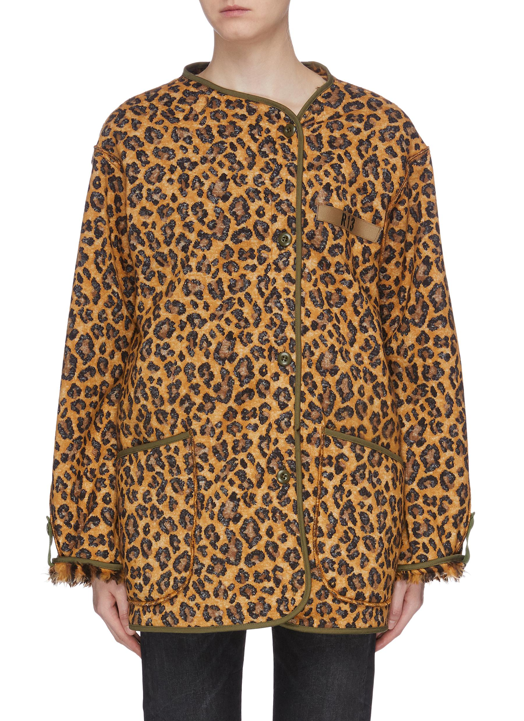 Leopard print oversized jacket by R13