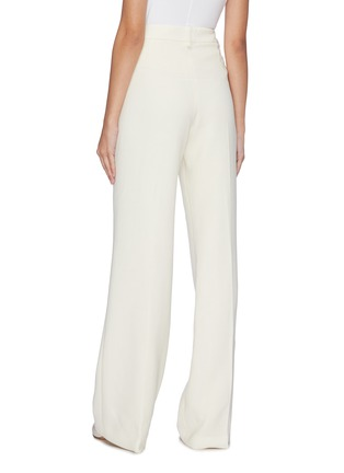Back View - Click To Enlarge - ROLAND MOURET - 'Palmetto' button waist wool-crepe pants