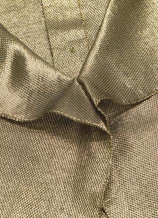 - ROLAND MOURET - 'Royce' sash tie neck cuff metallic lurex chainmail top