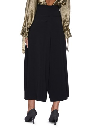 Back View - Click To Enlarge - ROLAND MOURET - 'Lenark' wide leg wool-crepe pants