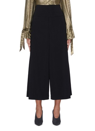 Main View - Click To Enlarge - ROLAND MOURET - 'Lenark' wide leg wool-crepe pants