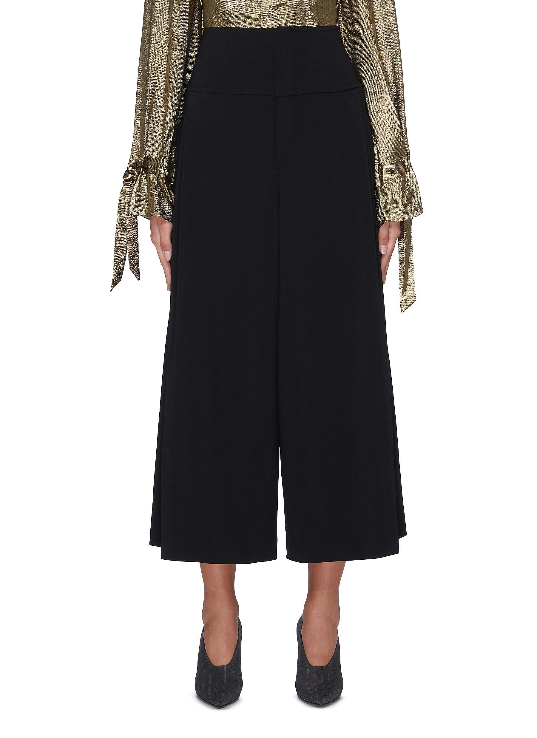 Lenark wide leg wool-crepe pants by Roland Mouret