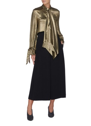 Figure View - Click To Enlarge - ROLAND MOURET - 'Lenark' wide leg wool-crepe pants