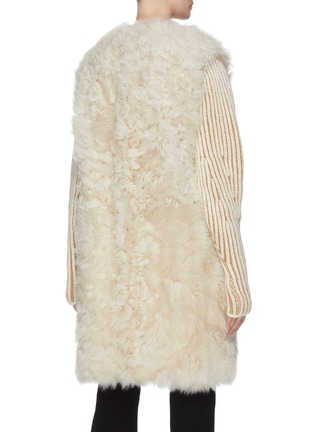 Back View - Click To Enlarge - YVES SALOMON - Reversible lambskin shearling vest