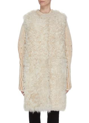 Main View - Click To Enlarge - YVES SALOMON - Reversible lambskin shearling vest