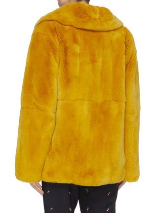 Back View - Click To Enlarge - YVES SALOMON - Rabbit fur jacket