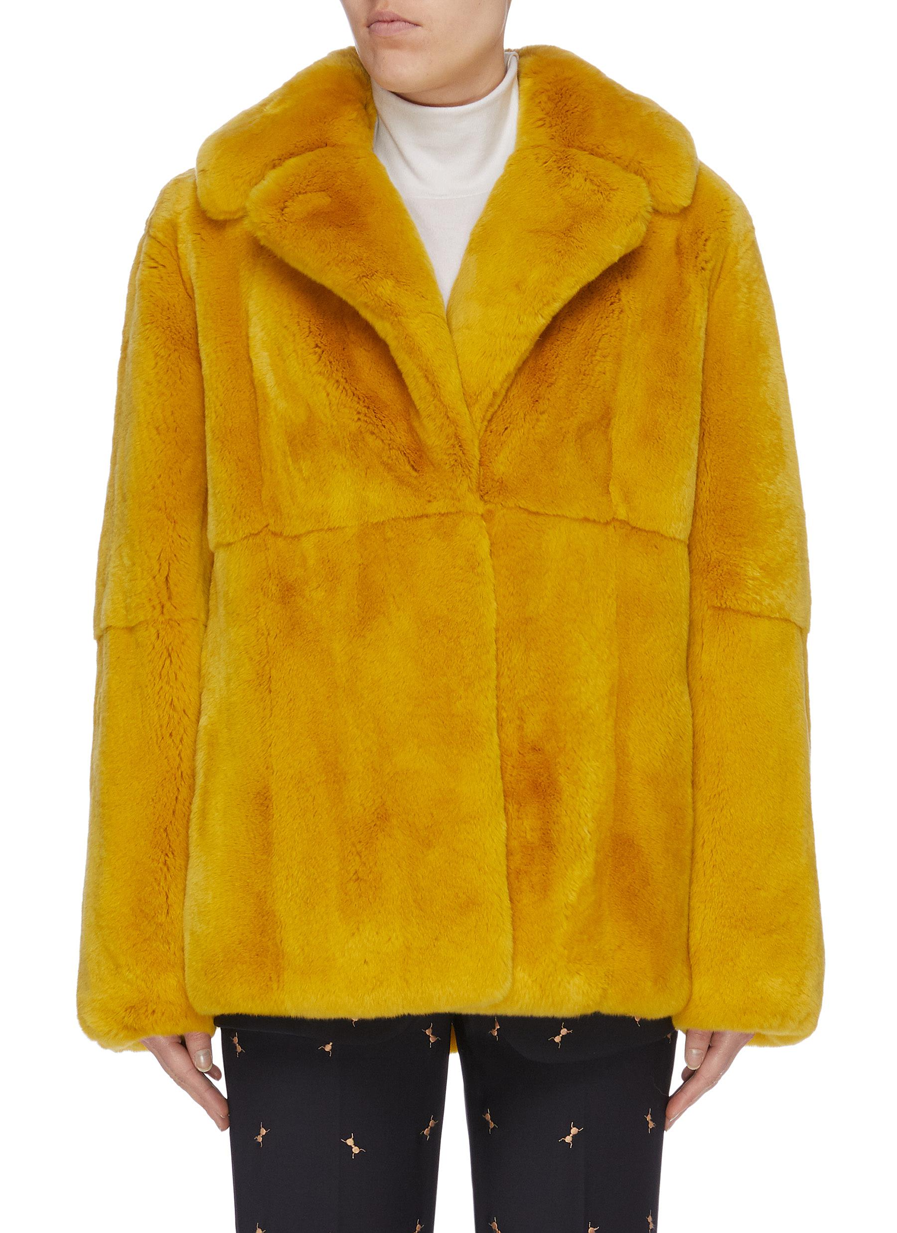Rabbit fur jacket by Yves Salomon