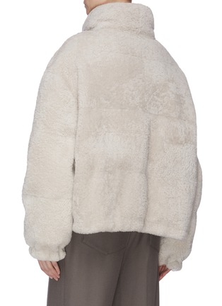 Back View - Click To Enlarge - ARMY BY YVES SALOMON - Reversible lambskin fur nylon jacket