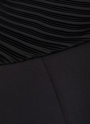 - SOLACE LONDON - 'Winnie' plissé pleated one-shoulder panelled drape jumpsuit