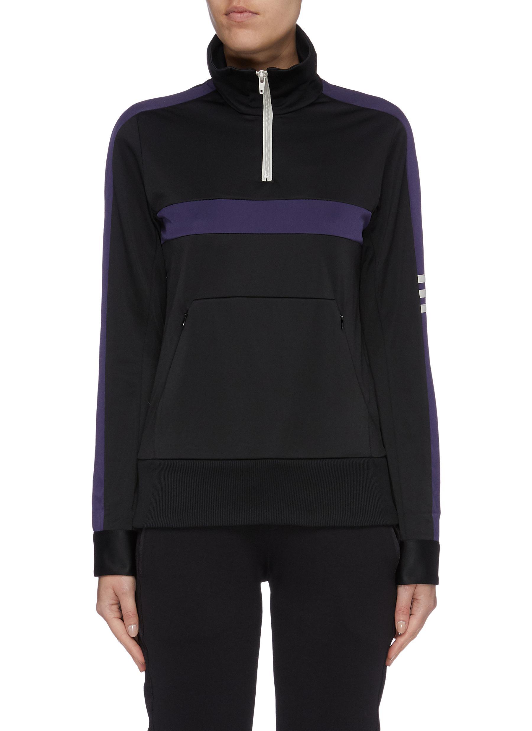 Stripe sleeve half-zip track jacket by Y-3