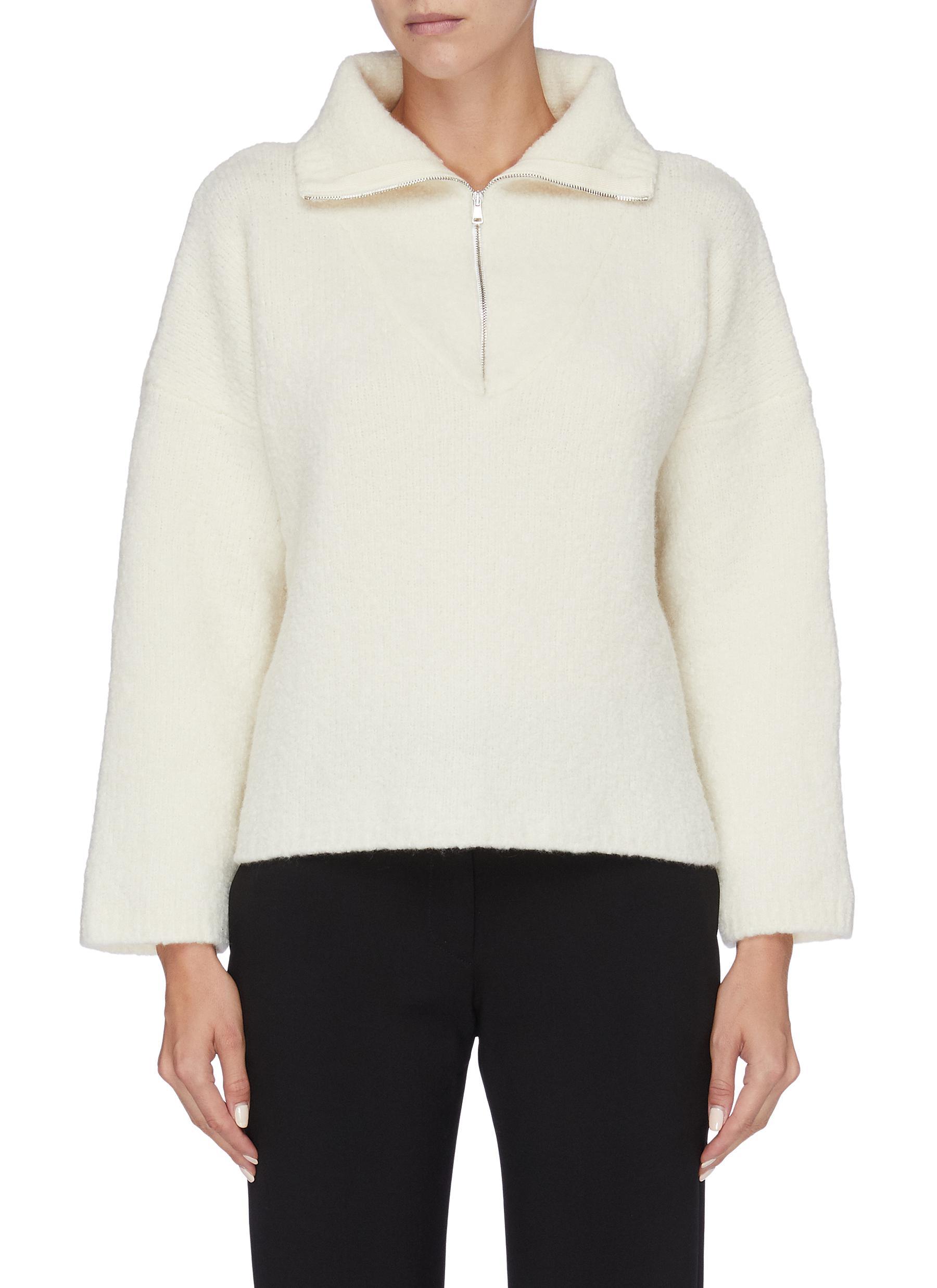 Afra half-zip turtleneck sweater by Barena