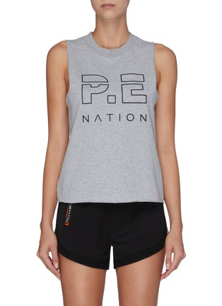 Main View - Click To Enlarge - P.E NATION - 'Shuffle' logo print tank top