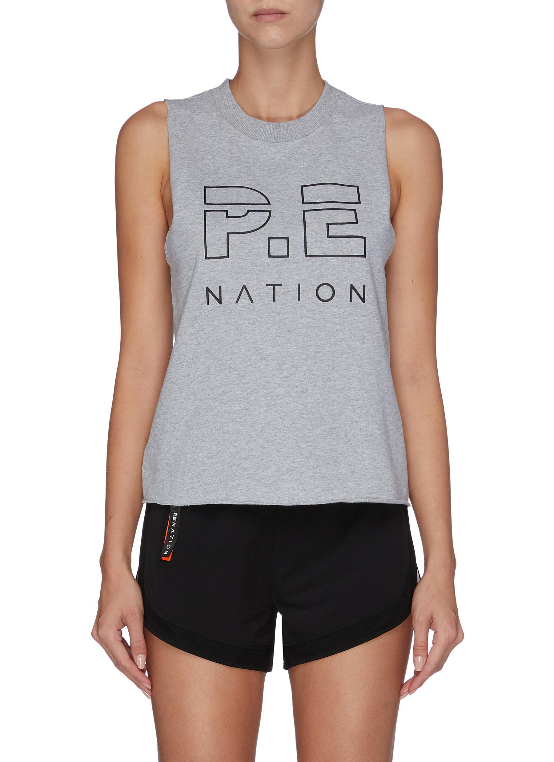 Shuffle logo print tank top by P.E Nation