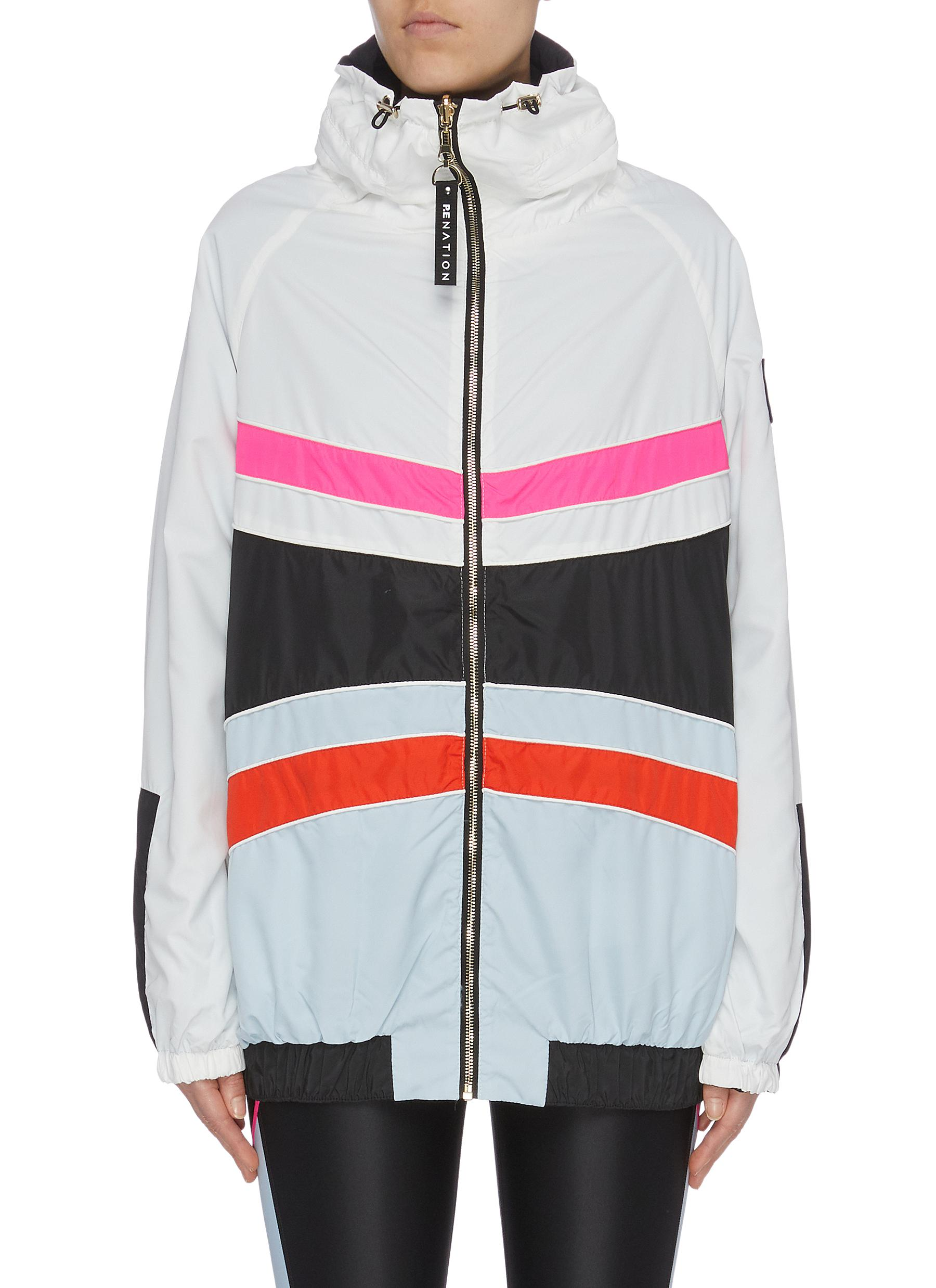 Easy Run stripe colourblock reversible jacket by P.E Nation