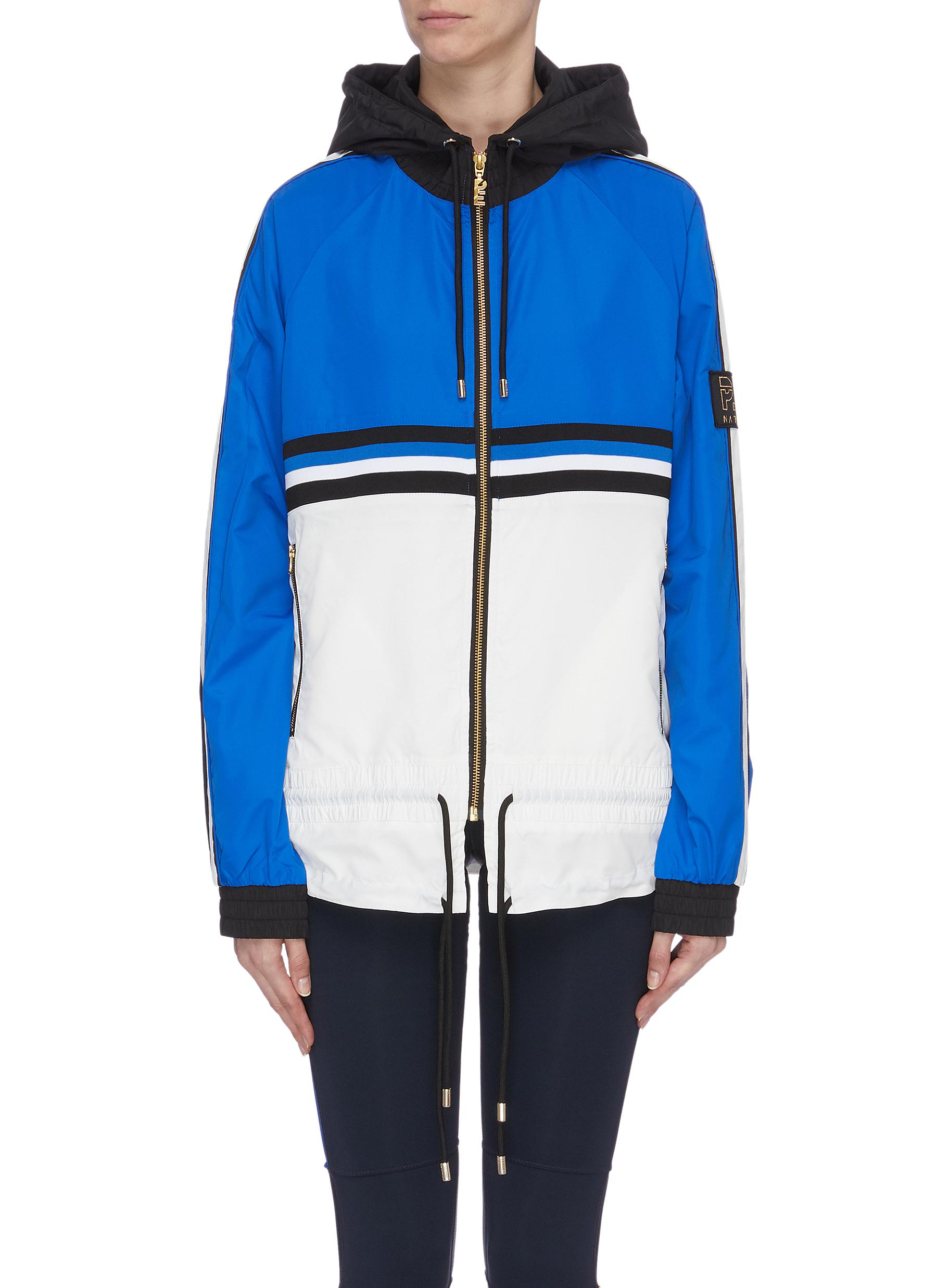 Man Down drawstring waist colourblock hooded jacket by P.E Nation
