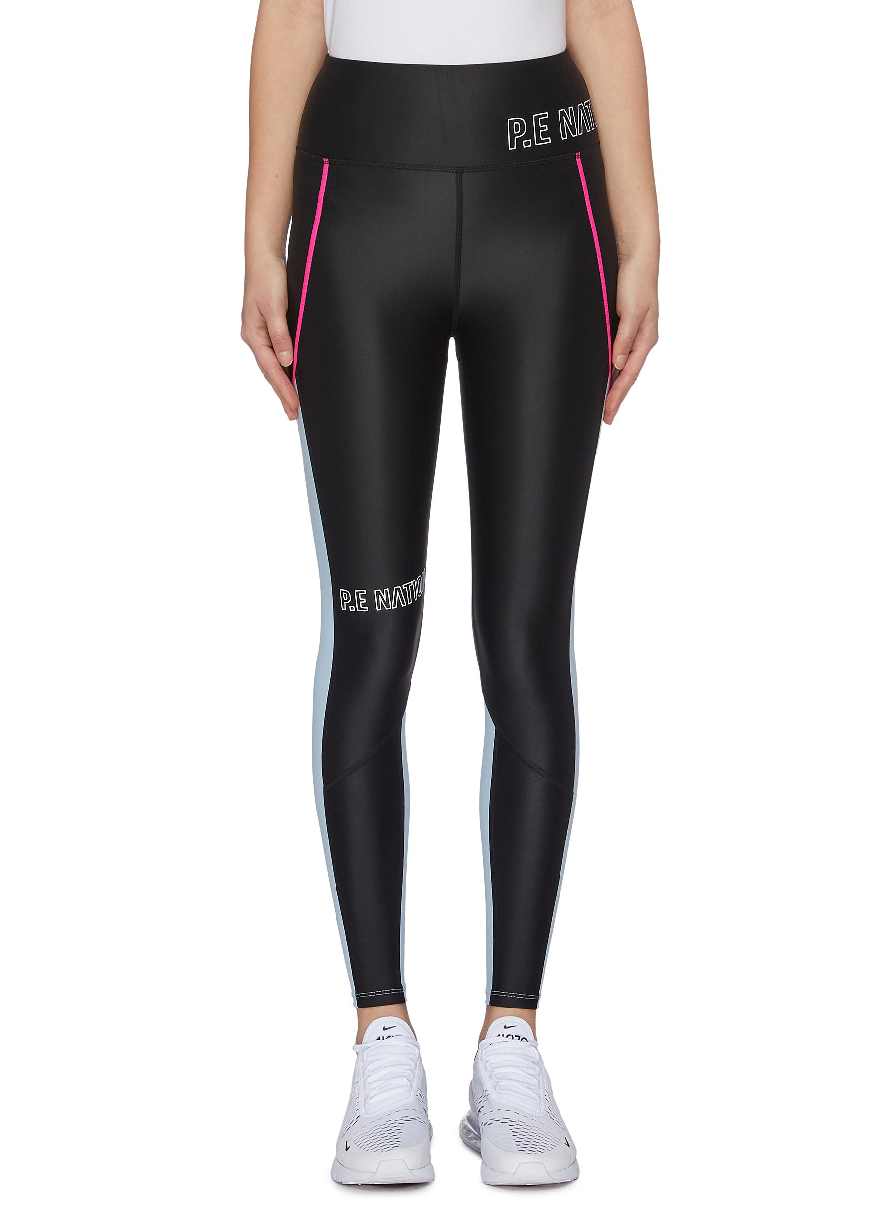 Saber contrast outseam performance leggings by P.E Nation