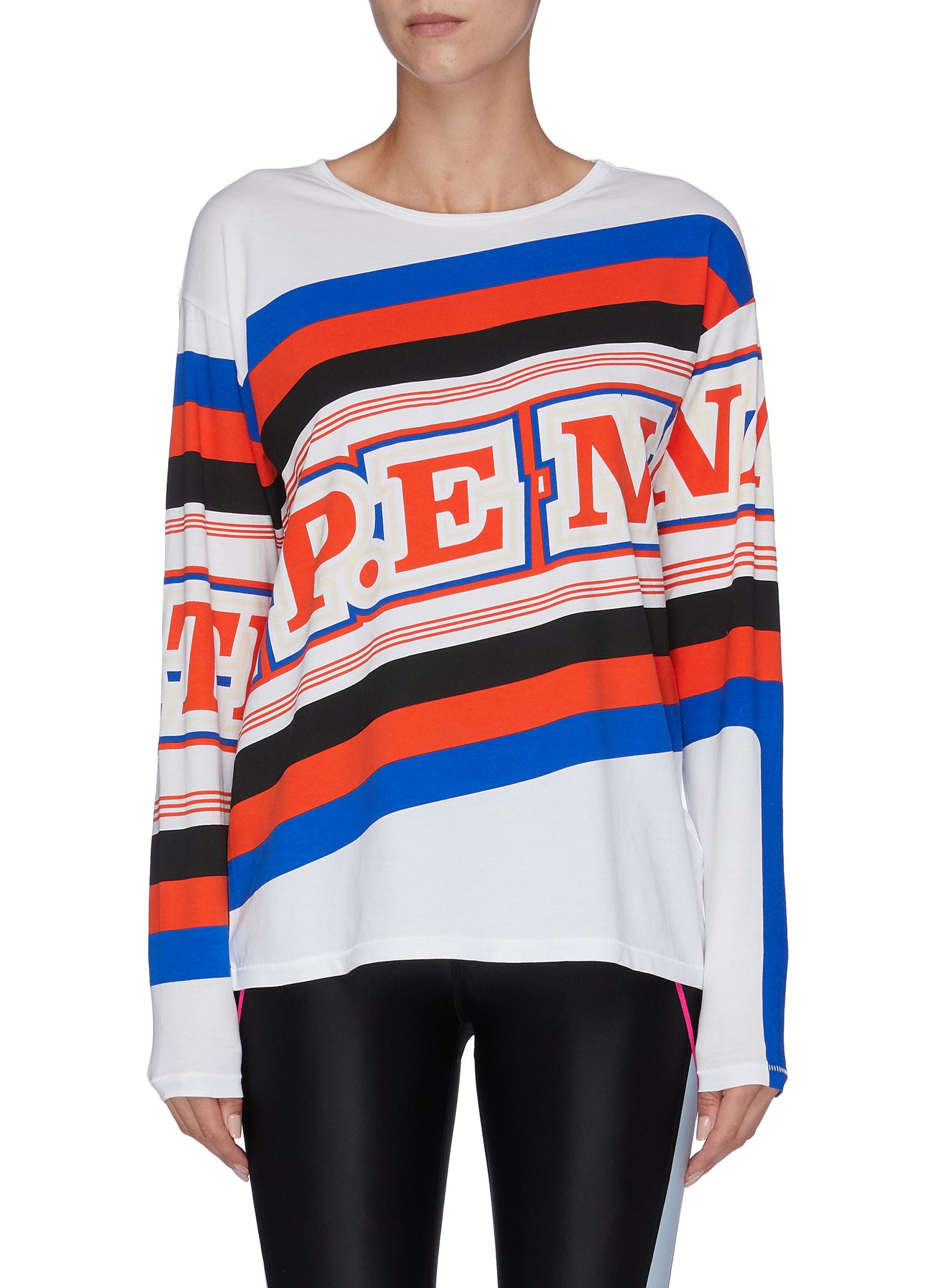 World Series logo print stripe top by P.E Nation