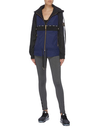 Figure View - Click To Enlarge - P.E NATION - 'Man Up' drawstring waist colourblock water-repellent jacket