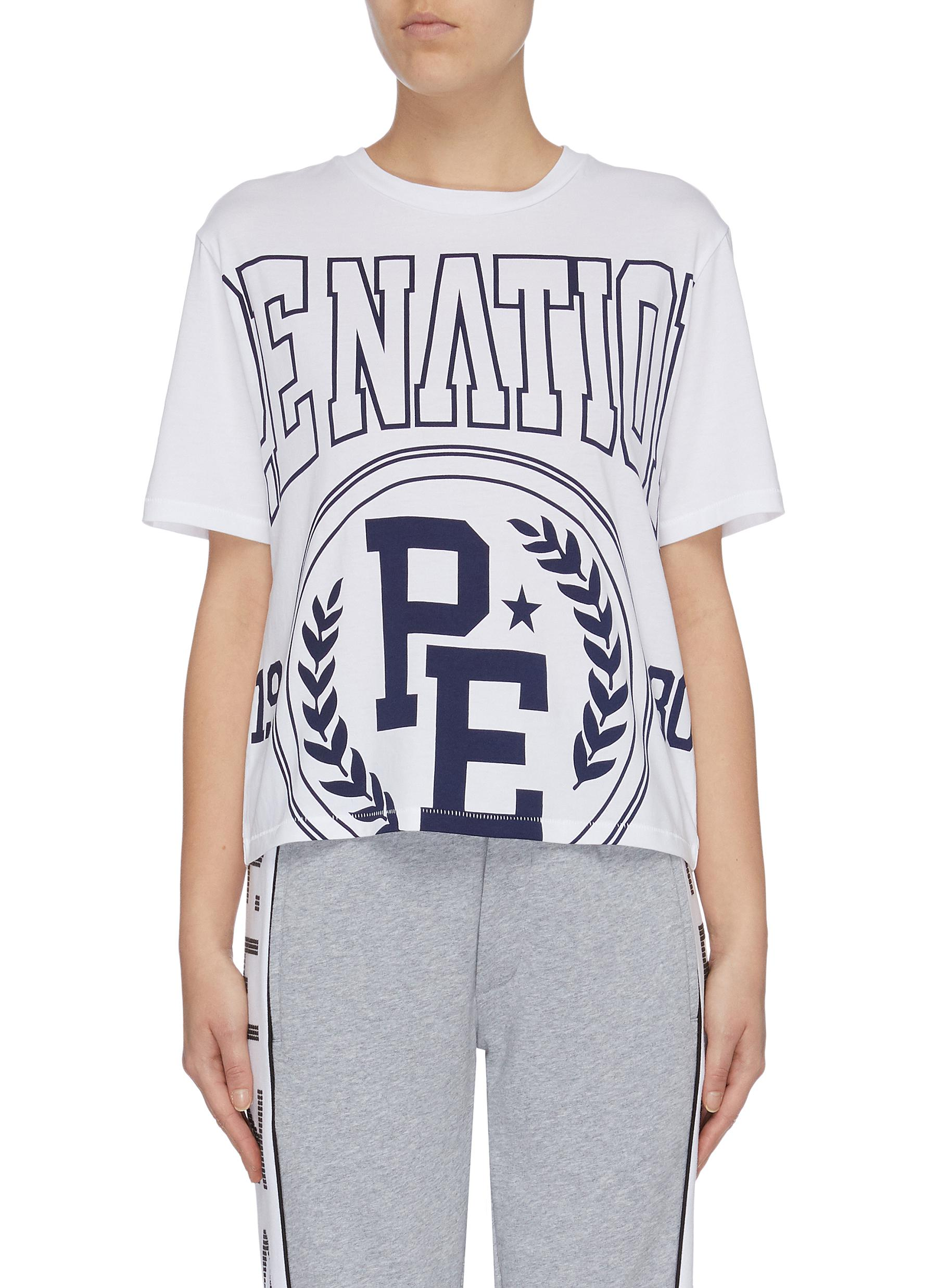 Collegiate Squad logo print T-shirt by P.E Nation