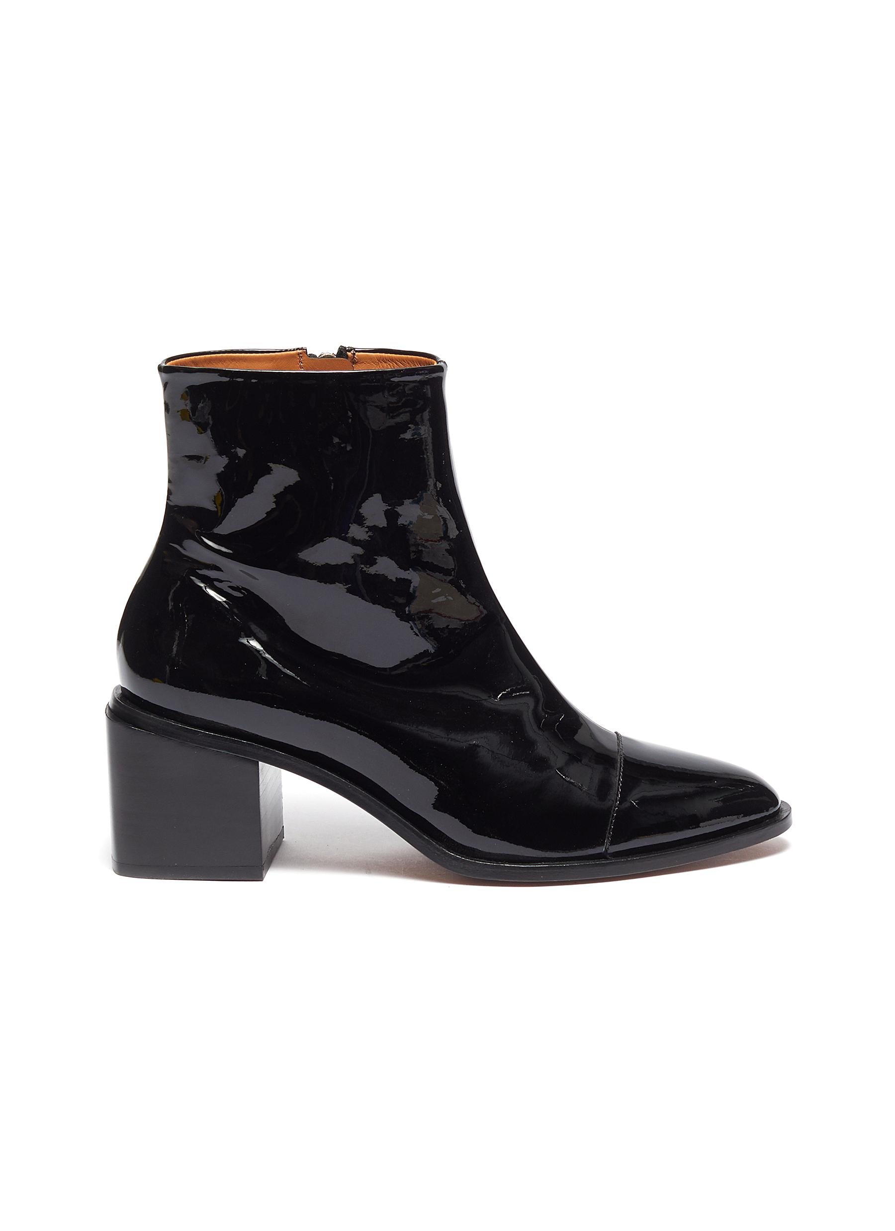 Xoli patent leather ankle boots by Clergerie