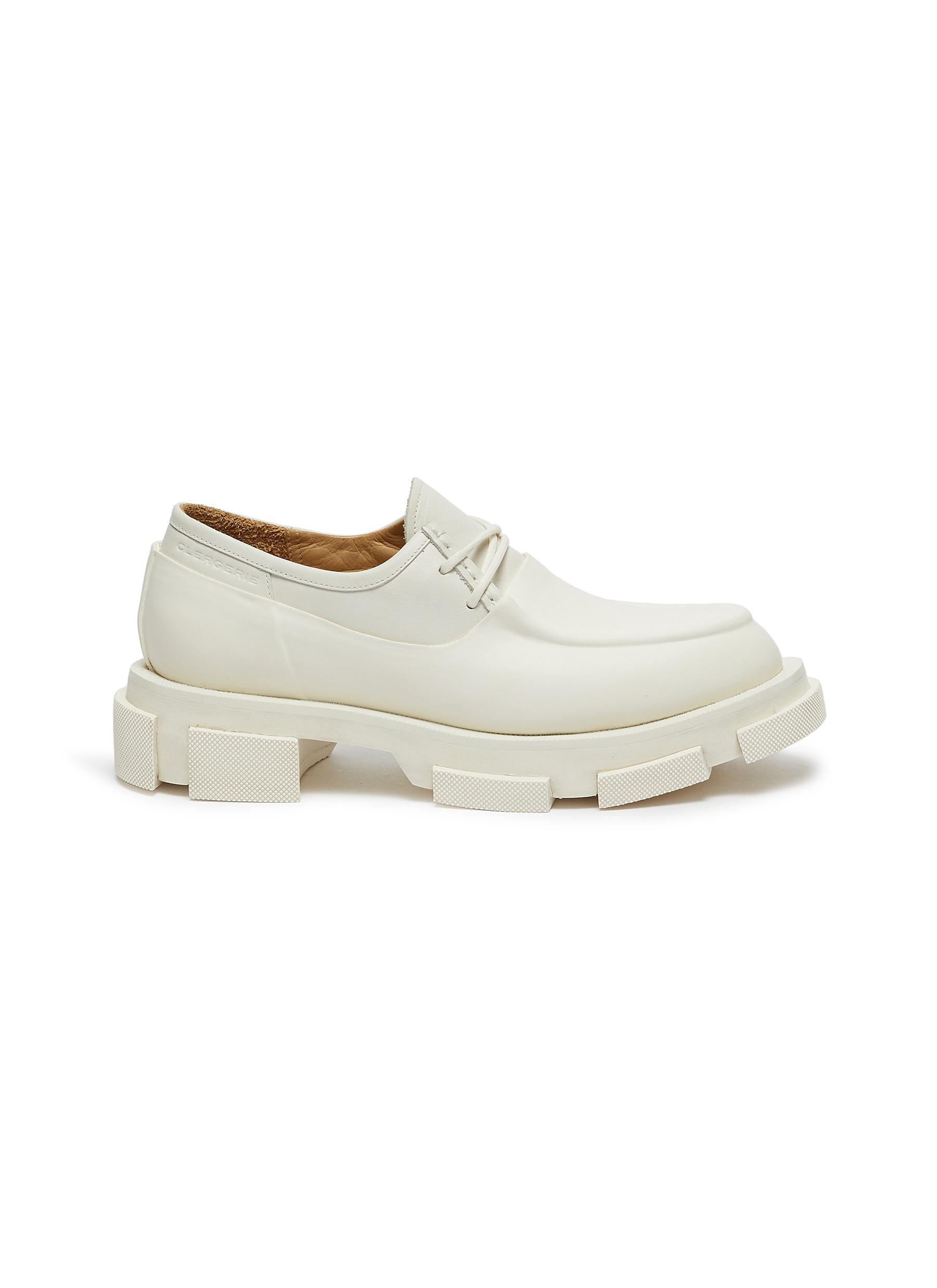 x both Bigup rubber panel leather platform loafers by Clergerie