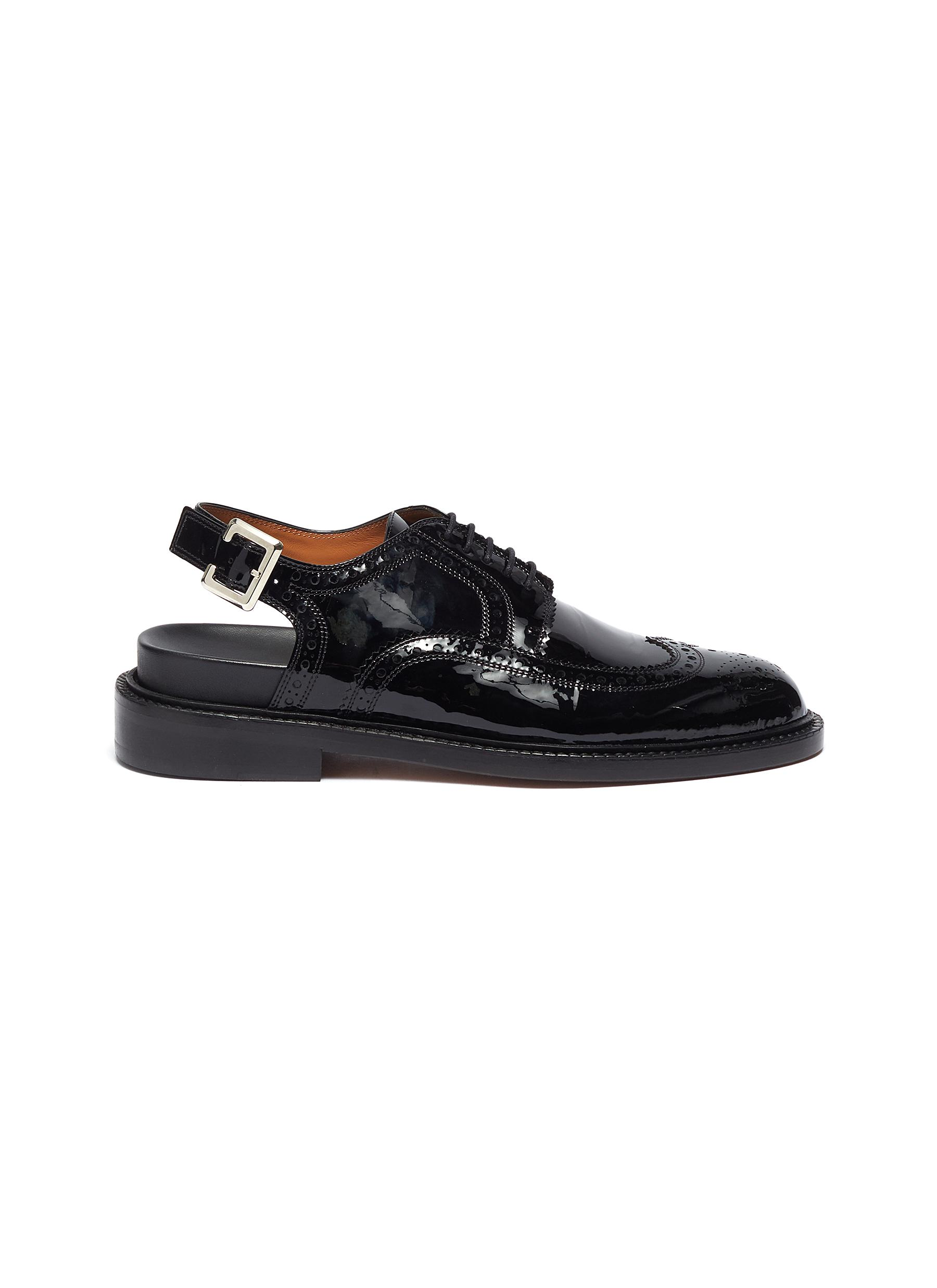 Genius patent leather slingback loafers by Clergerie