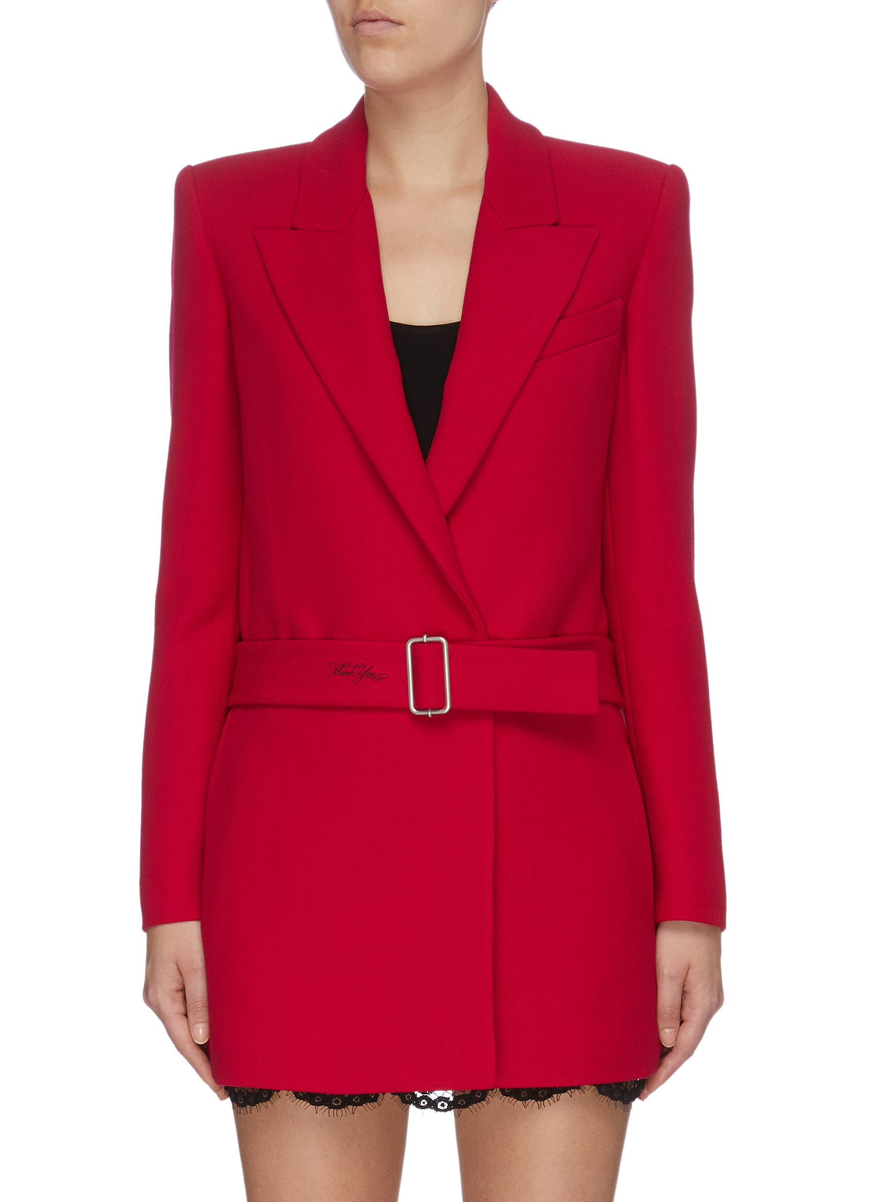 Belted long blazer by Philosophy Di Lorenzo Serafini