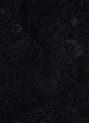 - PHILOSOPHY DI LORENZO SERAFINI - Belted sheer sleeve panelled lace shirt mini dress