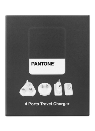 Main View - Click To Enlarge - PANTONE - 4-port travel charger – Grey