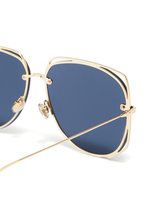 Detail View - Click To Enlarge - DIOR - 'Dior Stellaire 6' cutout metal geometric frame sunglasses