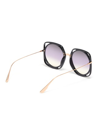 Figure View - Click To Enlarge - DIOR - 'Dior Direction' cutout acetate rim metal geometric frame sunglasses