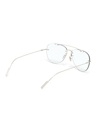 Figure View - Click To Enlarge - DIOR - 'Dior Chroma' rimless metal aviator optical glasses