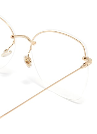 Detail View - Click To Enlarge - DIOR - 'Stellaire' rimless metal cat eye optical glasses